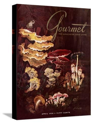 Gourmet Cover - April 1958-Henry Stahlhut-Stretched Canvas Print