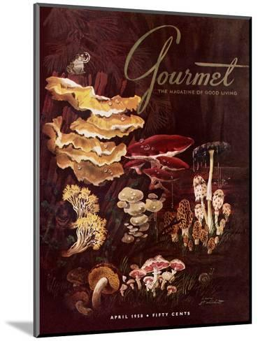 Gourmet Cover - April 1958-Henry Stahlhut-Mounted Premium Giclee Print