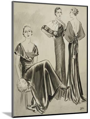 Vogue - August 1933-Creelman-Mounted Premium Giclee Print