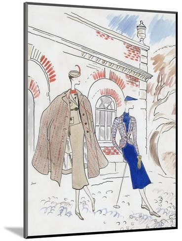 Vogue - September 1934-Cecil Beaton-Mounted Premium Giclee Print