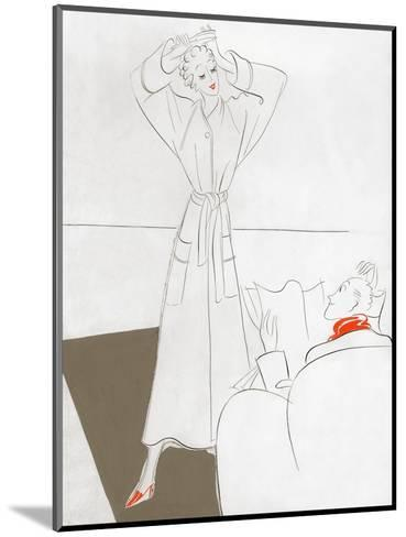 Vogue - January 1935-Eduardo Garcia Benito-Mounted Premium Giclee Print