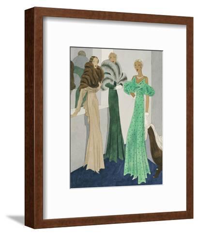 Vogue - November 1932-Eduardo Garcia Benito-Framed Art Print