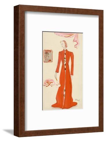 Vogue - October 1935-Christian Berard-Framed Art Print