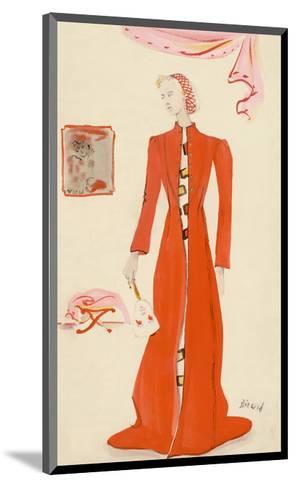Vogue - October 1935-Christian Berard-Mounted Premium Giclee Print