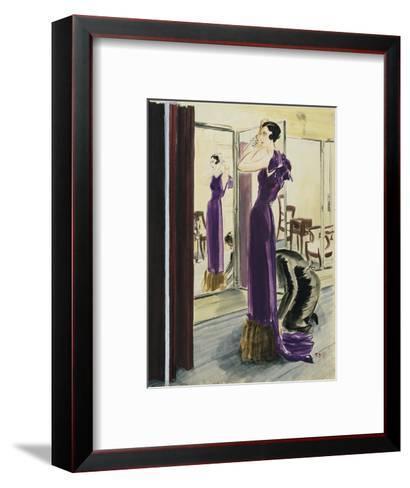 Vogue - September 1933-Ren? Bou?t-Willaumez-Framed Art Print