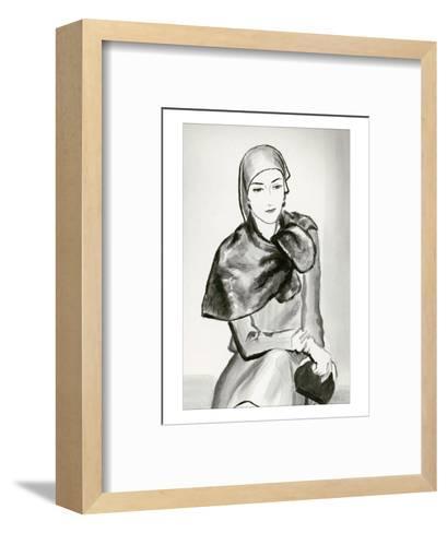 Vogue - March 1930-Ren? Bou?t-Willaumez-Framed Art Print