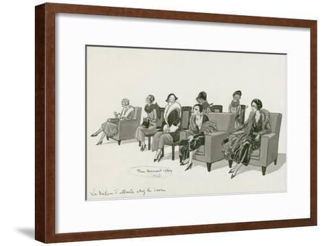 Vogue - February 1931-Pierre Brissaud-Framed Art Print