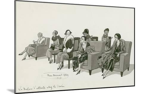 Vogue - February 1931-Pierre Brissaud-Mounted Premium Giclee Print