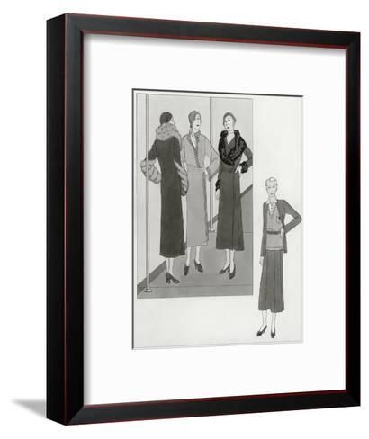 Vogue - August 1931-Polly Tigue Francis-Framed Art Print