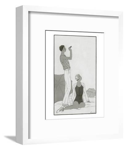 Vogue - January 1930-Polly Tigue Francis-Framed Art Print