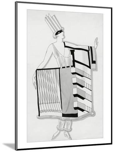 Vogue - December 1930-Robert E. Locher-Mounted Premium Giclee Print