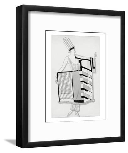 Vogue - December 1930-Robert E. Locher-Framed Art Print