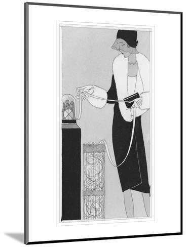 Vogue - April 1929-Jean Pag?s-Mounted Premium Giclee Print