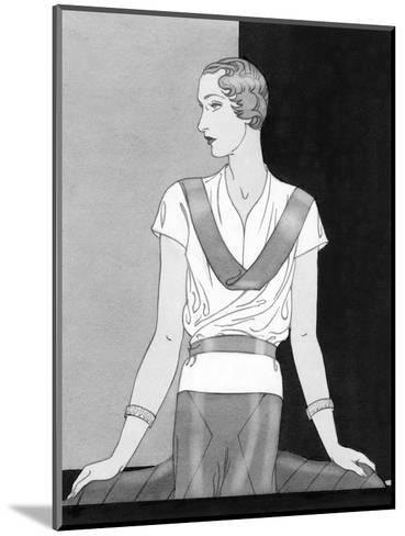 Vogue - March 1933-Douglas Pollard-Mounted Premium Giclee Print