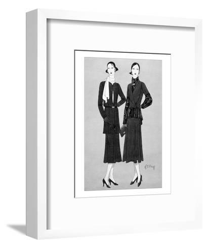 Vogue - August 1930-Douglas Pollard-Framed Art Print
