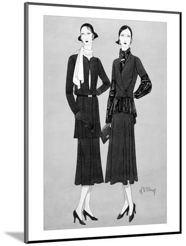 Vogue - August 1930-Douglas Pollard-Mounted Premium Giclee Print