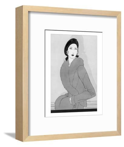 Vogue - September 1930-Douglas Pollard-Framed Art Print