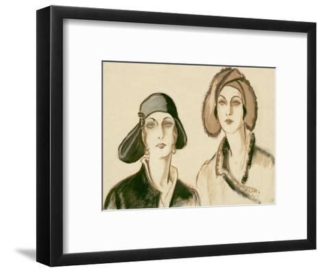 Vogue - November 1929-Porter Woodruff-Framed Art Print