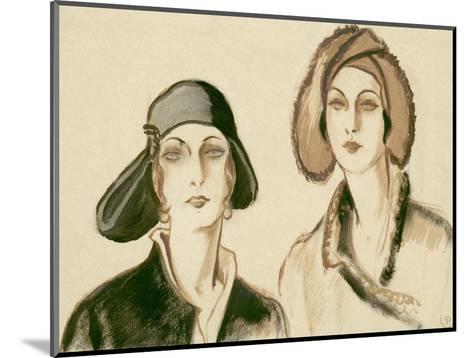 Vogue - November 1929-Porter Woodruff-Mounted Premium Giclee Print