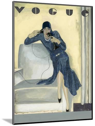 Vogue - April 1929-Pierre Mourgue-Mounted Premium Giclee Print
