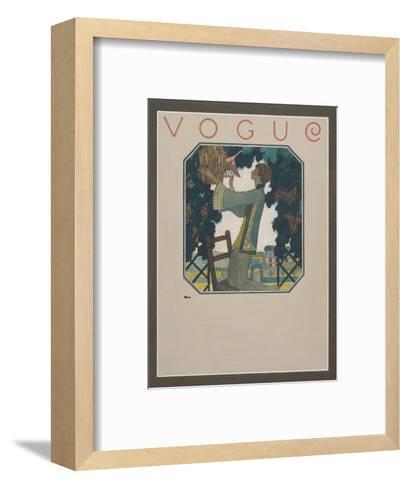 Vogue - September 1922-Leslie Saalburg-Framed Art Print