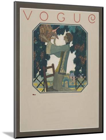 Vogue - September 1922-Leslie Saalburg-Mounted Premium Giclee Print