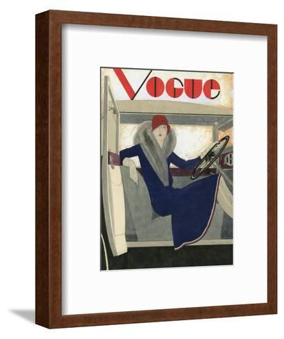 Vogue - March 1929-Pierre Mourgue-Framed Art Print