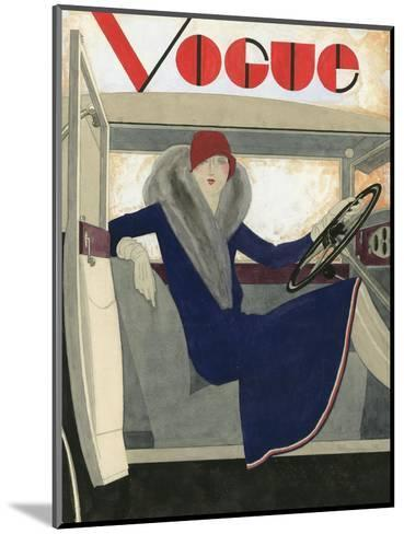 Vogue - March 1929-Pierre Mourgue-Mounted Premium Giclee Print