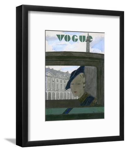 Vogue - November 1932-Pierre Mourgue-Framed Art Print