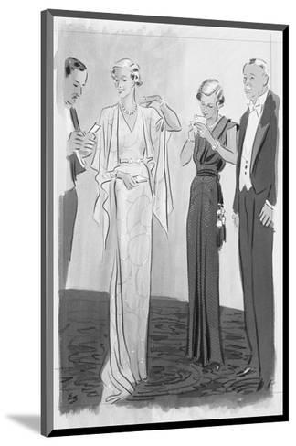 Vogue - September 1935-Eduardo Garcia Benito-Mounted Premium Giclee Print
