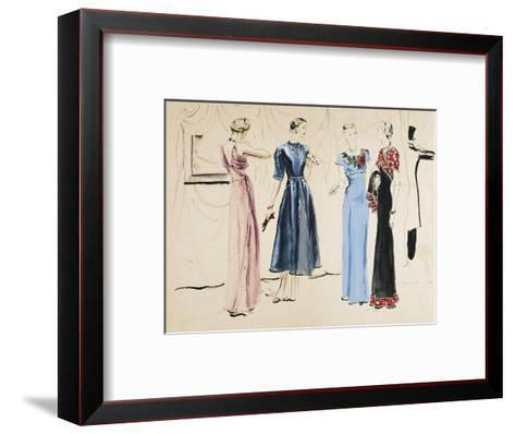 Vogue - August 1936-Ren? Bou?t-Willaumez-Framed Art Print
