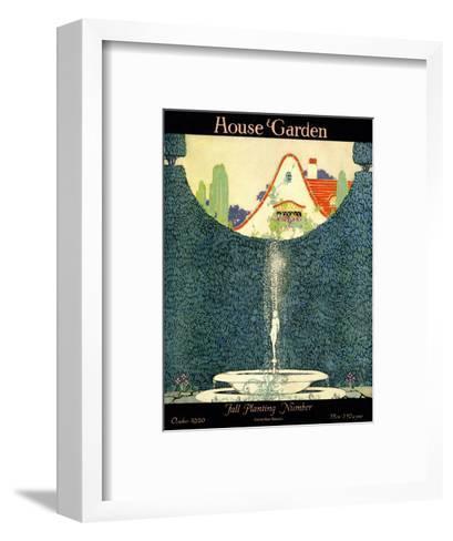 House & Garden Cover - October 1920-H. George Brandt-Framed Art Print