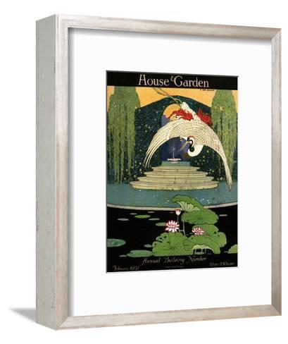 House & Garden Cover - February 1921-H. George Brandt-Framed Art Print