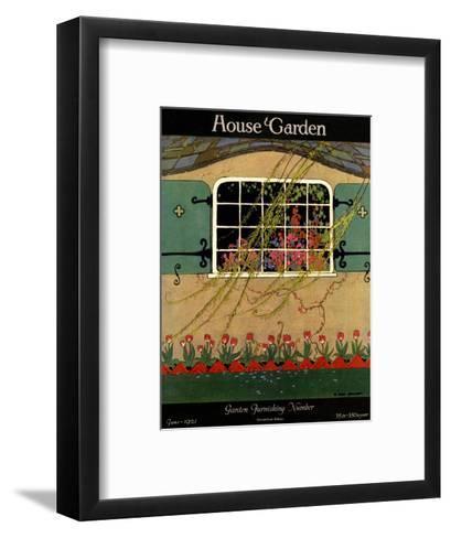 House & Garden Cover - June 1921-H. George Brandt-Framed Art Print