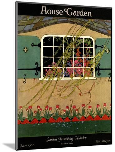 House & Garden Cover - June 1921-H. George Brandt-Mounted Premium Giclee Print