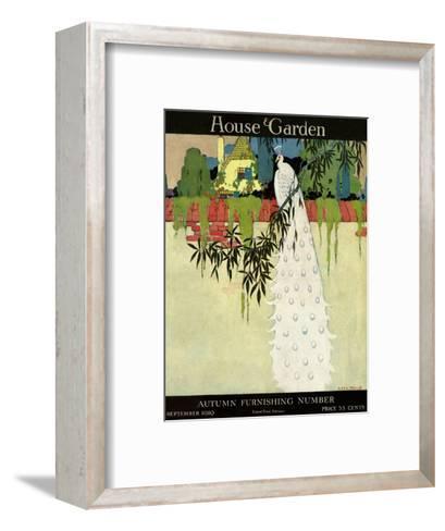 House & Garden Cover - September 1919-H. George Brandt-Framed Art Print