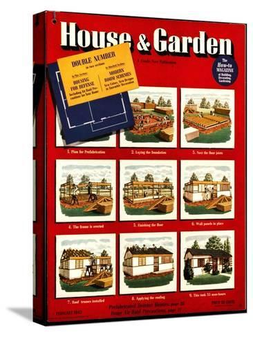 House & Garden Cover - February 1942-Robert Harrer-Stretched Canvas Print