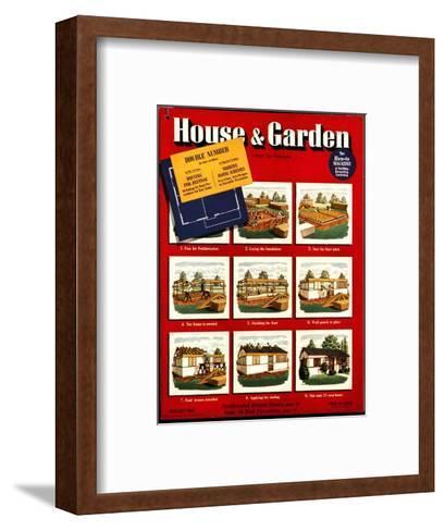 House & Garden Cover - February 1942-Robert Harrer-Framed Art Print