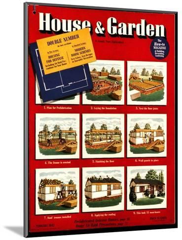 House & Garden Cover - February 1942-Robert Harrer-Mounted Premium Giclee Print