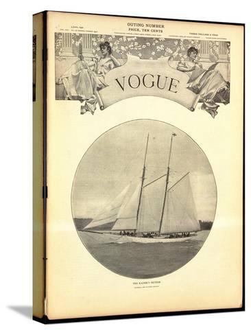 Vogue Cover - June 1902-Harry Coutant-Stretched Canvas Print