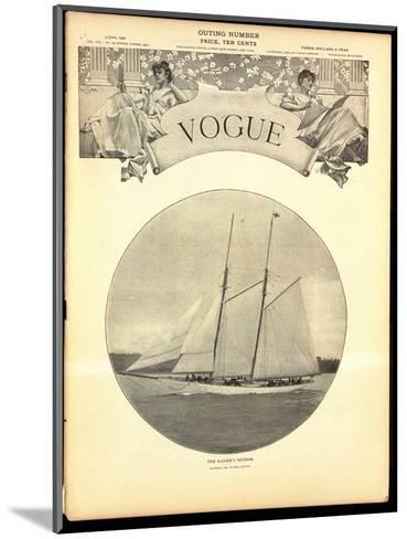 Vogue Cover - June 1902-Harry Coutant-Mounted Premium Giclee Print