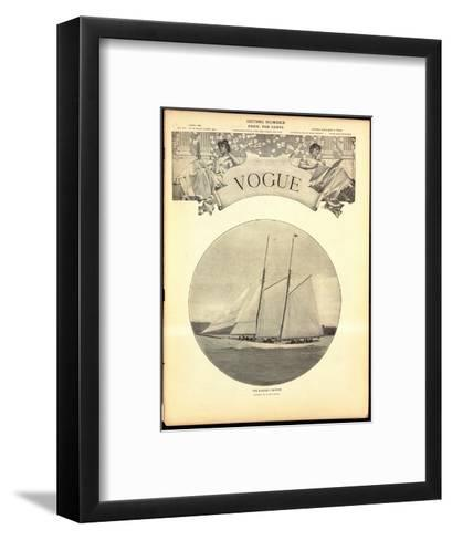 Vogue Cover - June 1902-Harry Coutant-Framed Art Print