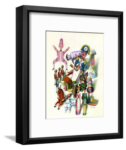 House & Garden - November 1944-Jan B. Balet-Framed Art Print