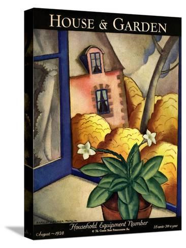 House & Garden Cover - August 1928-Bradley Walker Tomlin-Stretched Canvas Print