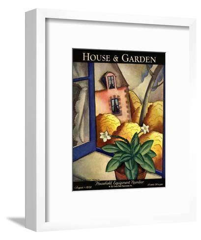 House & Garden Cover - August 1928-Bradley Walker Tomlin-Framed Art Print
