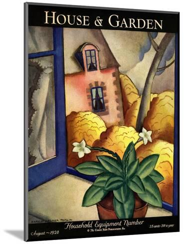 House & Garden Cover - August 1928-Bradley Walker Tomlin-Mounted Premium Giclee Print