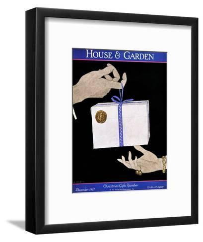House & Garden Cover - December 1927-Robert McQuinn-Framed Art Print