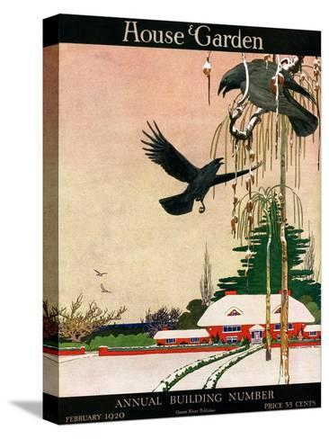 House & Garden Cover - February 1920-Charles Livingston Bull-Stretched Canvas Print