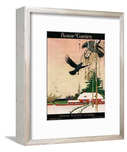 House & Garden Cover - February 1920-Charles Livingston Bull-Framed Art Print