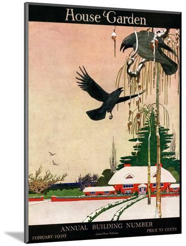 House & Garden Cover - February 1920-Charles Livingston Bull-Mounted Premium Giclee Print